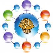 Icono de la web de Muffin — Vector de stock