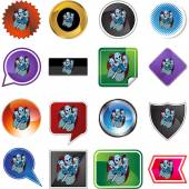 Knight icon button — Stock Vector