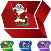 Santa web button — Stock Vector