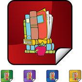 Book Worm web icon — Stock Vector
