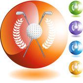 Golf Wreath web icon — Stock Vector
