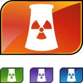 Nuclear Powerplant web button — Stock Vector