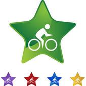 サイクリング水泳 web — ストックベクタ