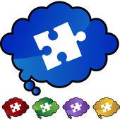 Puzzle ícone web — Vetor de Stock
