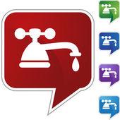 Water Faucet Drip — Stock Vector