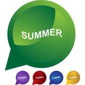 Summer web button — Stock Vector