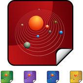 Solar System web icon — Stock Vector