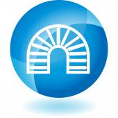 Conveyor Belt Rollers Icon — Stock Vector