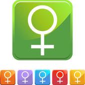 Venus web button — Stock Vector