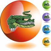 Ikony WWW aligator — Wektor stockowy
