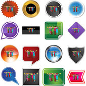 Toasting web icon — Stock Vector