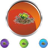 Nest Egg with money — Stock Vector