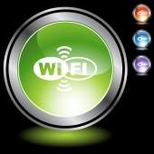 Wifi web button — Stock Vector