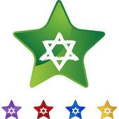 Jewish Star web icon — Stockvector