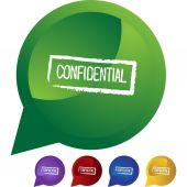 Confidential Ink Stamp  web icon — Stock Vector