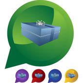 Gift Box  web button — Stock Vector