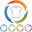 Wit Shirt pictogram — Stockvector  #64200247