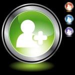 Add Friend web button — Stock Vector #64201903