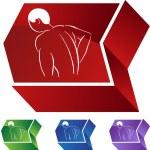 Back Pain Icon web icon — Stock Vector #64204381