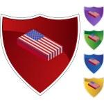 American Flag  web button — Stock Vector #64205551