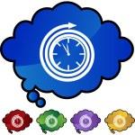 Clock web button — Stock Vector #64206569