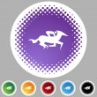 Horse Jockey Icon — Stock Vector #64207629
