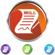 Signed Will web icon — Stock Vector #64208425