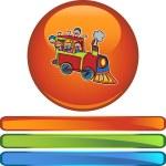 Train Ride web icon — Stock Vector #64209453