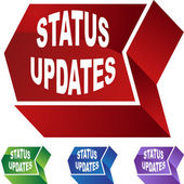 Status Updates web button — Stock Vector