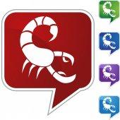 Scorpio web button — Stock Vector