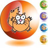 Fat Cat web icon — ストックベクタ