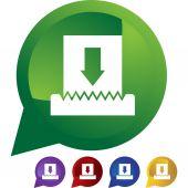 Paper Shredder  web button — Stock Vector