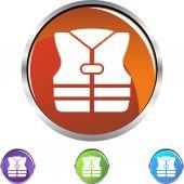 Life Jacket  web icon — Vector de stock