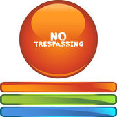 No Trespassing colorful icon — Stock Vector