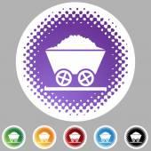 Mining cart button — Stock Vector
