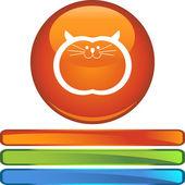 Fat Cat web button — Stockvektor