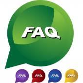 FAQ web icon — Stock Vector