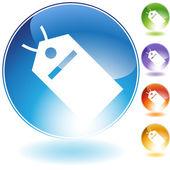 Hang tag  crystal icon — Stock Vector