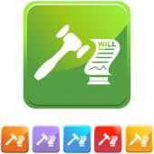 Probate web pictogram — Stockvector