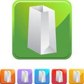 Paper Bag web icon — Stock Vector