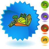 Vegetables icon button — Stok Vektör