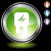 Fuse web button — Stock Vector