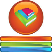 Book Stack web icon — Stock Vector