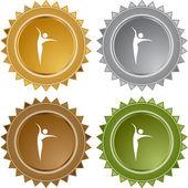 Dancer web button — Stock Vector