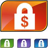 Financial Lock web icon — Vettoriale Stock