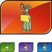 Statue Liberty web icon — Cтоковый вектор