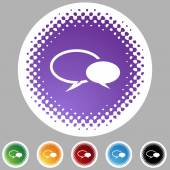 Символ разговора установлен — Cтоковый вектор
