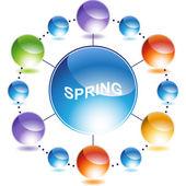 Spring web button — Stock Vector