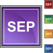 September web button — Stock Vector