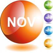 November web button — Stock Vector